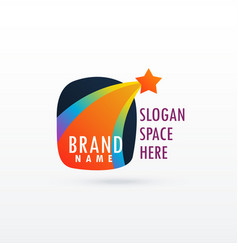 shooting star logo concept design vector image