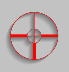 sight sign red icon with vector image vector image