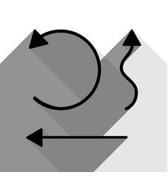 simple set to interface arrows black icon vector image