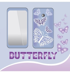 Smartphone butterfly vector