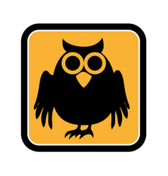 Square frame of halloween with owl vector