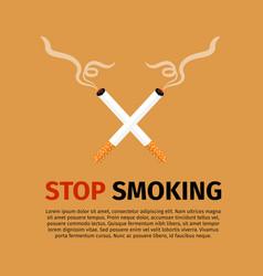 stop smoking world no tobacco day vector image