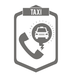 taxi service design vector image vector image