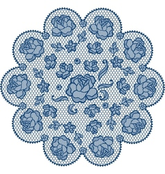 Vintage lace element ornamental flowers texture vector image vector image