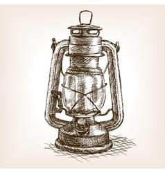 Vintage lantern sketch vector image
