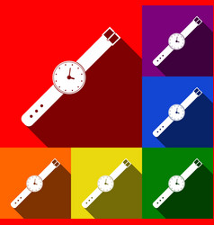 Watch sign set of icons with vector