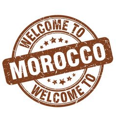 Welcome to morocco vector