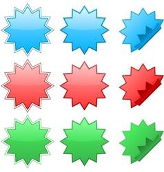 Zig zag stickers vector