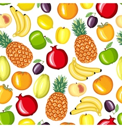 different fruit pattern vector image