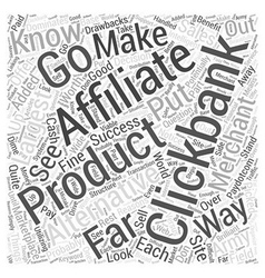 Alternatives to clickbank word cloud concept vector