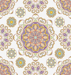 ornate flowers seamless texture vector image