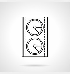 Stage speakers system flat line icon vector