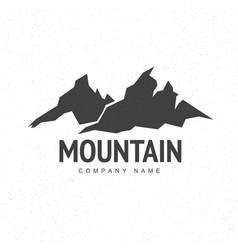 Mountains logo template with abstract peaks vector