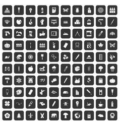100 eco design icons set black vector