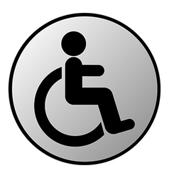 Disabled sign button vector