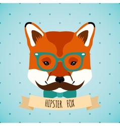 Animal hipster portrait vector