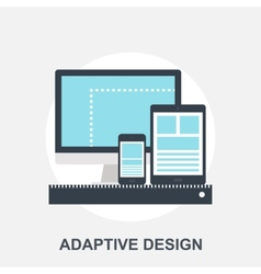 Adaptiove web design vector