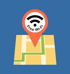 Finding free wi-fi zone concept flat design vector