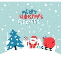 Merry Christmas Everyone vector image