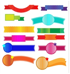 Ribbon halftone vector