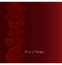 Valentines greeting card with translucent hearts vector
