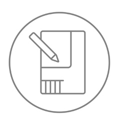 Layout of the house line icon vector