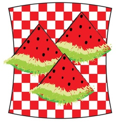Watermelon picnic vector