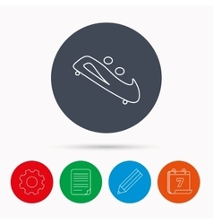 Bobsleigh icon two-seater bobsled sign vector