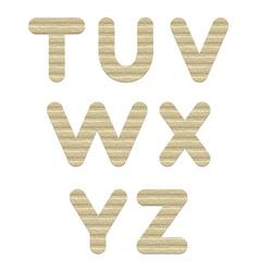 Embossed cardboard Letters set t-z vector image