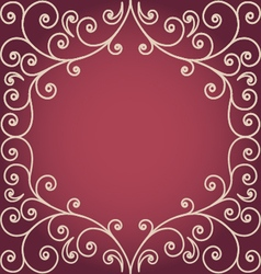 Background with swirling floral border vector