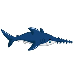 Cute shark saws cartoon for you design vector
