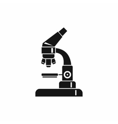 Microscope icon simple style vector