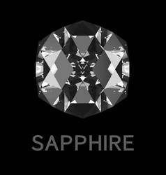 Abstract sapphire on black background vector