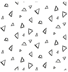 Abstract triangle ink imitation seamless pattern vector image vector image