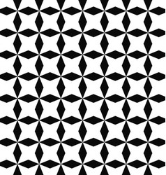 Black white seamless rhombus pattern background vector