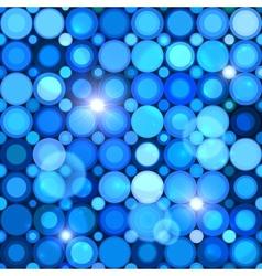 Blue abstract shining dots seamless pattern vector
