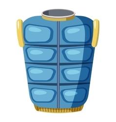Blue warm vest icon cartoon style vector image vector image