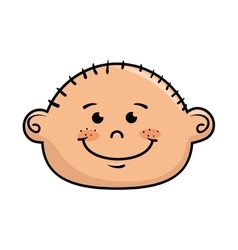 boy smiling cartoon vector image