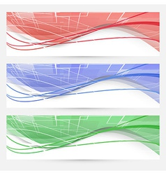 Bright swoosh lines geometrical web elements vector image