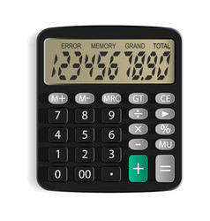 calculator isolated object white background vector image vector image