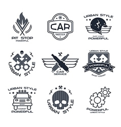Car service badges and logo vector image vector image