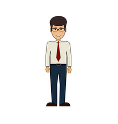 cartoon business man standing businessman isolated vector image