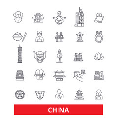 China and chinese oriental east nation culture vector