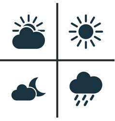 Climate icons set collection of sun douche sun vector