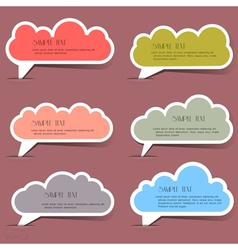 Clouds bubbles for speech vector image vector image