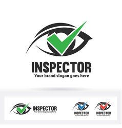 eye check logo ophthalmologist clinic brand vector image vector image
