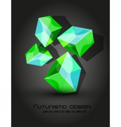 futuristic dimensional boxes vector image vector image
