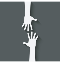 Helping hand symbol vector