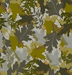 Khaki background with autumn leaves 3 vector