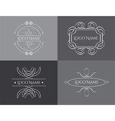 logo vintage set vector image